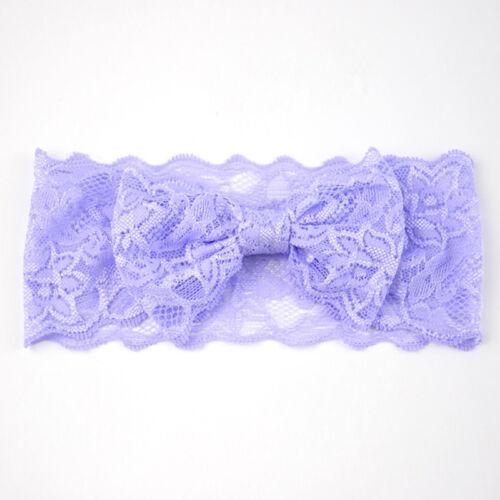 Baby Girls Stirnband Lace Bow elastische Haarband Prinzessin Haar-Accessoires