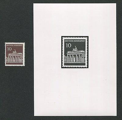 Deutschland Ab 1945 Gut Ausgebildete Brd AnkÜndigungsfoto 1966 506 Brandenburger Tor Dauerserie Official Photo M0007 Produkte HeißEr Verkauf