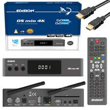 EDISION OS Mio 4k Receiver Combo Dvb-s2x SAT ✚ Cable H.265 Linux E2 ...