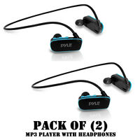 Pack Of (2) Flextreme Waterproof Ipx8 Mp3 Headphones W/ Built-in 8 Gb Memory