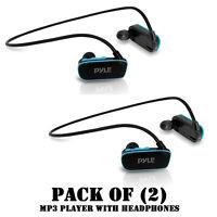 Pack Of (2) Flextreme Waterproof Ipx8 Mp3 Headphones W/ Built-in 8 Gb Memory
