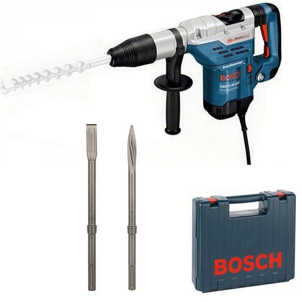 Bosch Bohrhammer GBH 5-40 DCE Nr. 0.611.264.000 + Flach- und Spitzmeißel Koffer