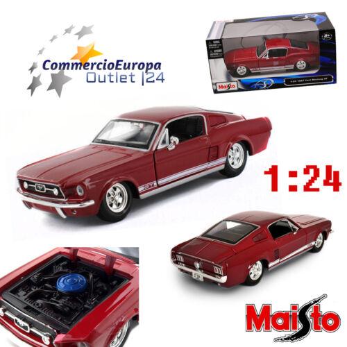 MODELLINO FORD MUSTANG GT 1967 MAISTO 1//24 FASTBACK DIE CAST AUTO DA COLLEZIONE