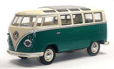 Samba 17,5cm KINSMART Neuware! NEU: VW Bus Bulli T1 1:24 grün Modellauto ca