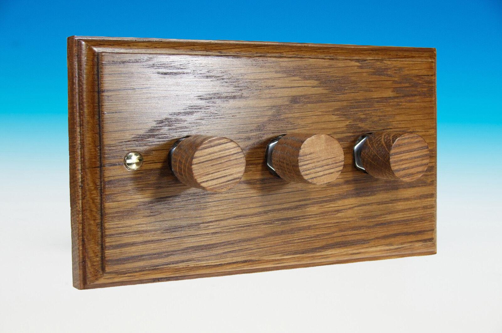 Varilight Dimmer 3-Gang 2-Way Push-on/off Rotary Dimmer Varilight Interrupteur De Lumière 3 X 40-250 W (Twin b9dac7