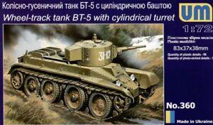 UNIMODEL-1-72-DE-RUSIA-bt-5-RUEDA-vias-de-Rusia-Tanque-360