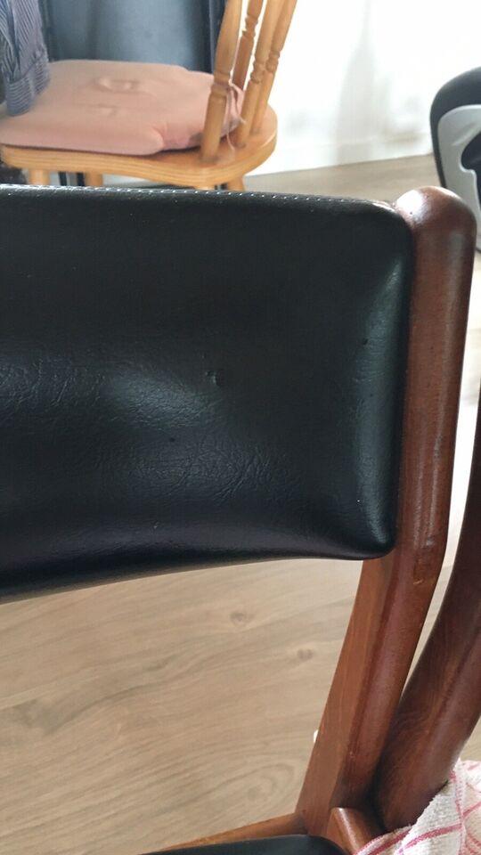 Spisebord m/stole, Teaktræ, b: 110 l: 210