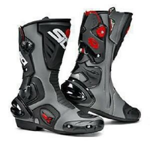 SIDI-Vertigo-2-Grey-Black-Motorcycle-Boots-Free-Shipping-New