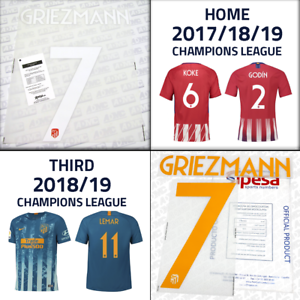9025a748e84 Atletico Madrid 2017-18-19 UCL, official Sipesa name set, printings ...