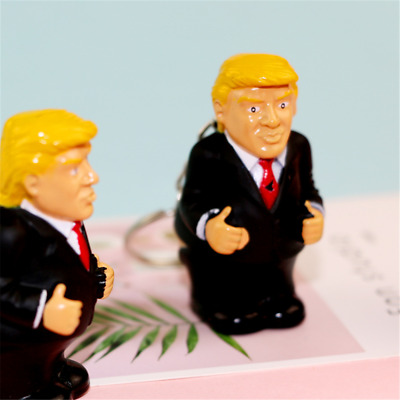 Funny Donald Trump Poop Keyring President Squeeze Funny Key Chain Keyforb