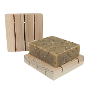 Solid Shampoo Dish Handcrafted Cedar Soap