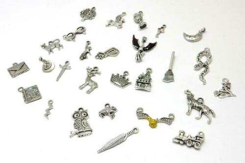 Harry Potter themed tibetan silver and enamel charms huge collection pack of 27