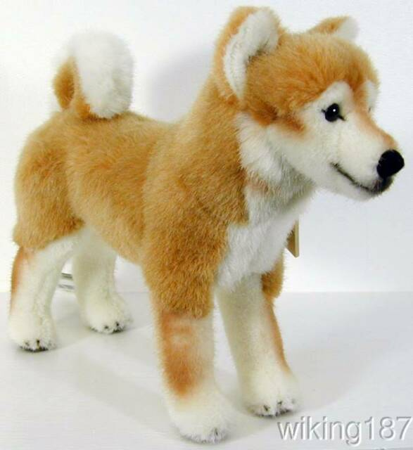Shiba Inu Dog Tan White Plush Toy