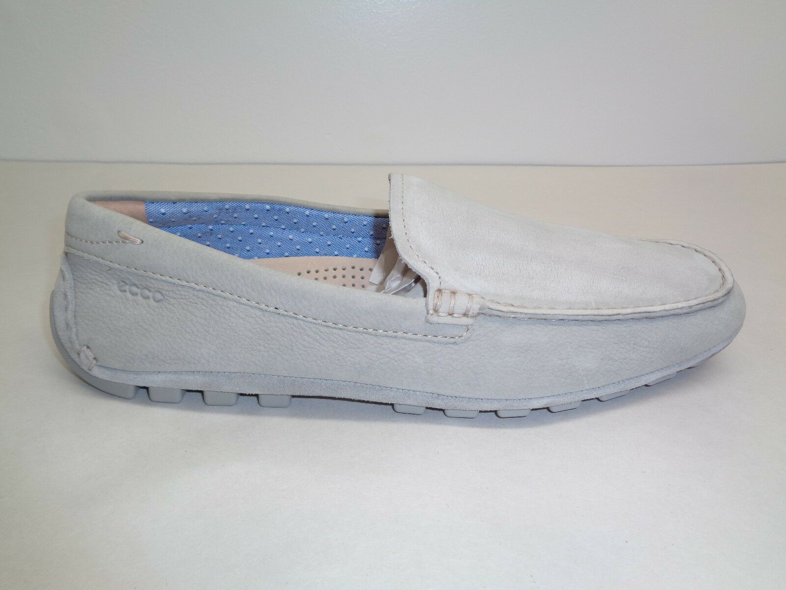 Ecco Size 9 to 9.5 SUMMER MOC Wild Loafers Dove Leather Slip On Loafers Wild New Uomo Shoes f74954