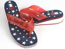 45792379a item 1 Vtg Tommy Hilfiger Womens 10M Flip Flop Sandals Box Logo Wedge Blue  White Stars -Vtg Tommy Hilfiger Womens 10M Flip Flop Sandals Box Logo Wedge  Blue ...