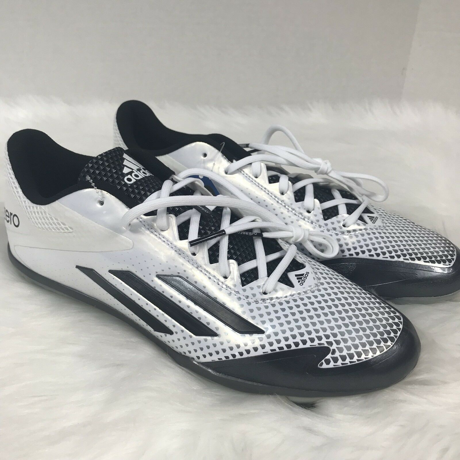 697f02e50 ADIDAS Adizero Afterburner 2.0 Metal Baseball Cleats shoes White S85704  Size 11.5
