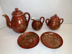 Red gold dragon tea set organon medicine homoeopathic philosophy
