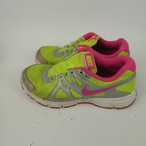 d9d56238c4 NIKE REVOLUTION 2 Running Shoes Neon Yellow Pink 555090-761 Girls ...