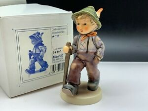 Hummel-Figurine-562-Grandfather-Waits-4-1-8in-1-Choice-With-Top-Condition