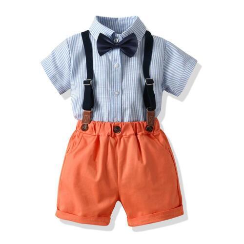 Baby Child Boy Wedding Formal Suit Bowtie Gentleman Romper Tuxedo Outfit Clothes
