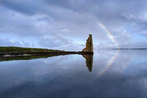 Cuadro. Fotografía de paisaje. La torre y el arco iris.