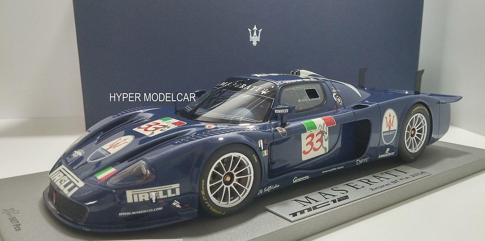 Bbr Models 1 18 Maserati Mc12 Zhuhai Gt Fia  33 2004 Art P1803