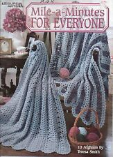 USED MILE A MINUTE FOR EVERYONE AFGHANS CROCHET PATTERN BOOK