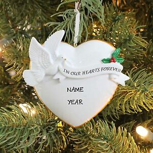 In Our Hearts Forever Memory Dove Personalized Christmas