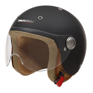 Helmet-Jet-Child-Nox-N217K-Matte-Black-Choice-Size