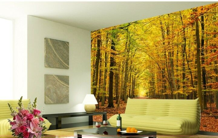3D Autumn Tree 1156 Paper Wall Print Decal Wall Wall Murals AJ WALLPAPER GB