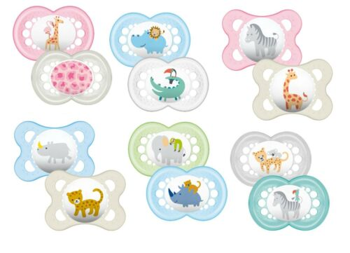 6m Girl 2Pk Mam Nature Boy Baby Soother Dummy Pacifier Teat Nipple 0m+