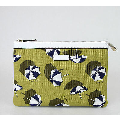 42972aeda7d7 New Authentic GUCCI Canvas Parasols Cosmetic Case Clutch Yellow 282071 7309