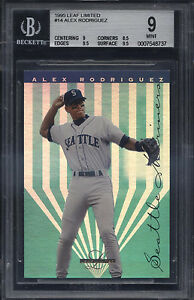 1995-Leaf-Limited-14-Alex-Rodriguez-Mint-BGS-9-Subs-9-5-Seattle-Mariners