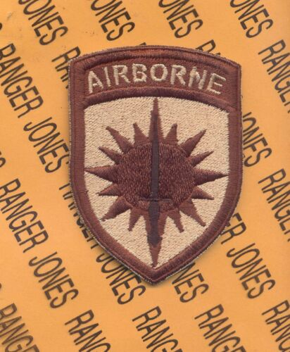 US Army Special Operations Command Pacific Airborne SOCPAC DESERT DCU patch c//e