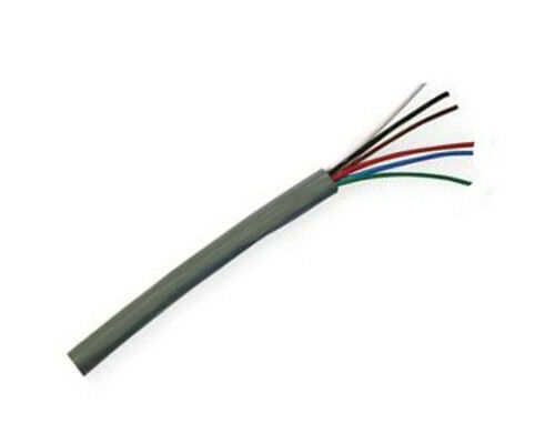 22/6 Security Alarm Wire Cable Stranded Shielded 6 Conductor 22 AWG ...