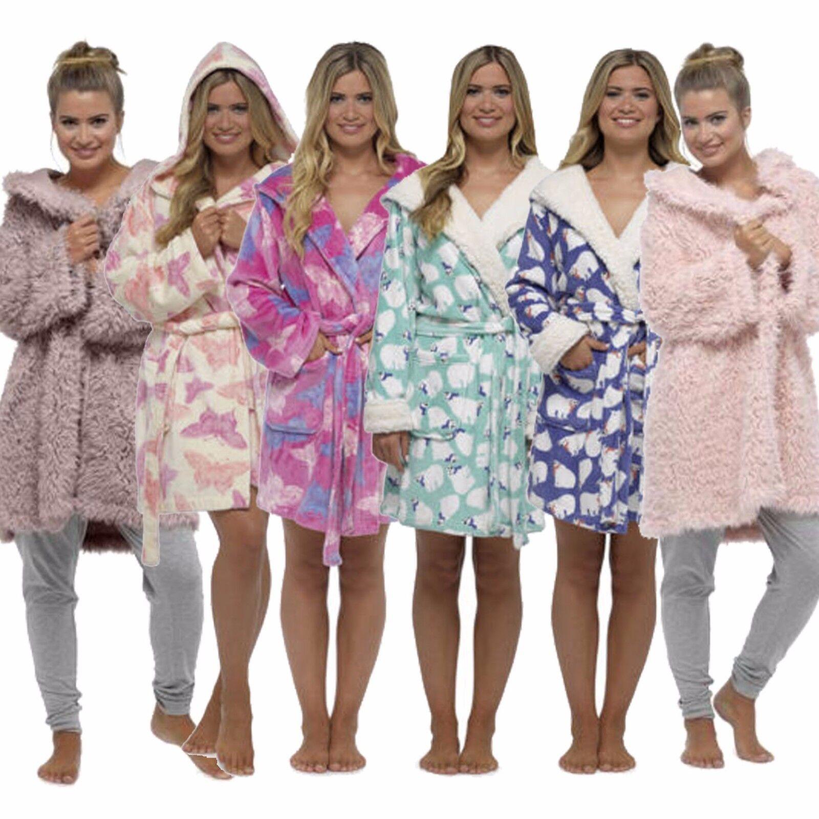 Girls Kids POLAR BEAR HOODED FLEECE DRESSING GOWN ROBE Primark Ages 3-11