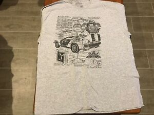 Back-To-The-Future-Delorean-Blueprint-T-Shirt-XXL-Lootcrate-Exclusive