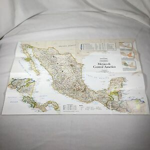 Central America Physical Map on