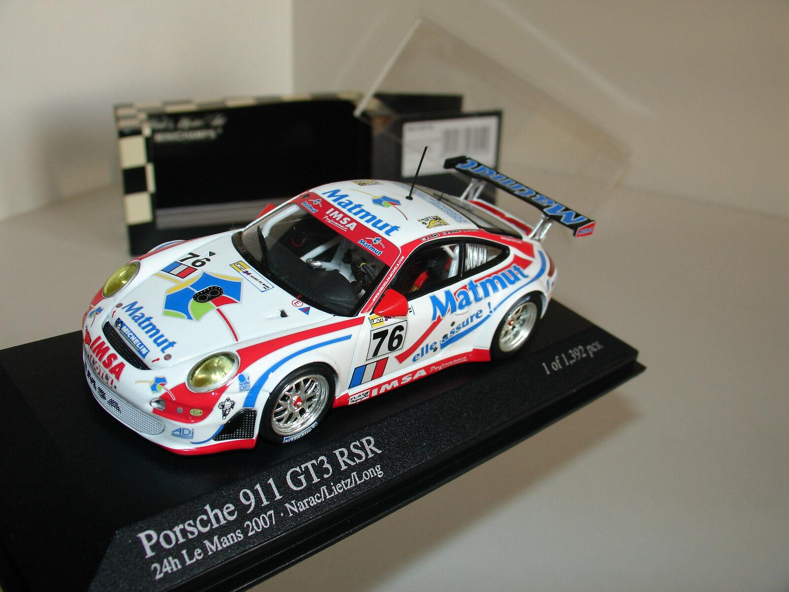 1 43 PORSCHE 911 (997) GT3 RSR h Le Mans 2007 by MINICHAMPS