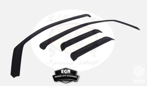 EGR Matte Black Channel Window Visor 4pc Set 2016-2017 Toyota Tacoma 575085