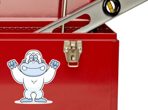 2 x Abominable Snowman Vinyl Stickers Travel Luggage #10683
