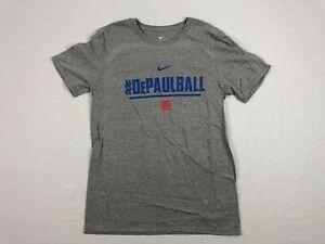 NEW-Nike-DePaul-Blue-Demons-Gray-Short-Sleeve-Shirt-Multiple-Sizes