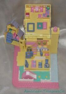 Vintage 1993 Bluebird Polly Pocket Pollyville Giallo Si Accendono Schoolhouse Bambole Fashion Giocattoli E Modellismo