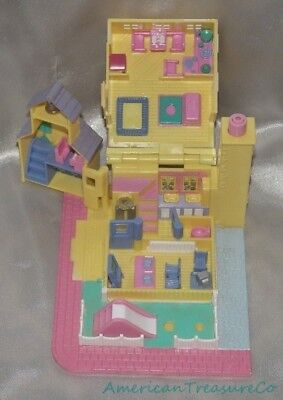 Polly Pocket 100% Quality Vintage 1993 Bluebird Polly Bolsillo Pollyville Amarillo Con Luz Escuela