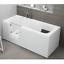 miniatura 8 - Badewanne Wanne für barrierefreies Bad mit Tür links 140 cm mit Sitz Acryl