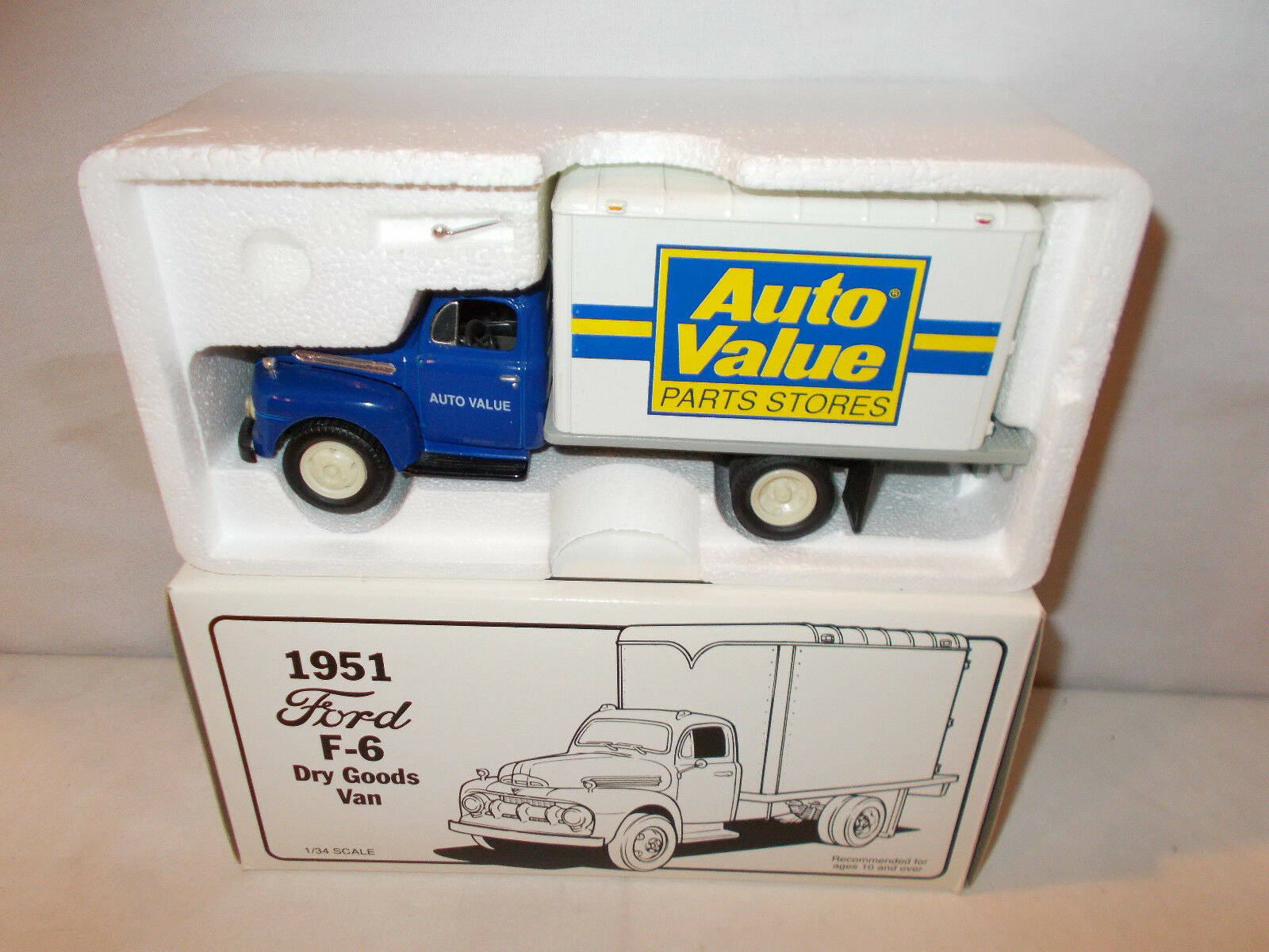 First Gear 1 34 Scale 1951 Ford F 6 Dry Goods Van Ebay 1952 Dump Trucks Norton Secured Powered By Verisign