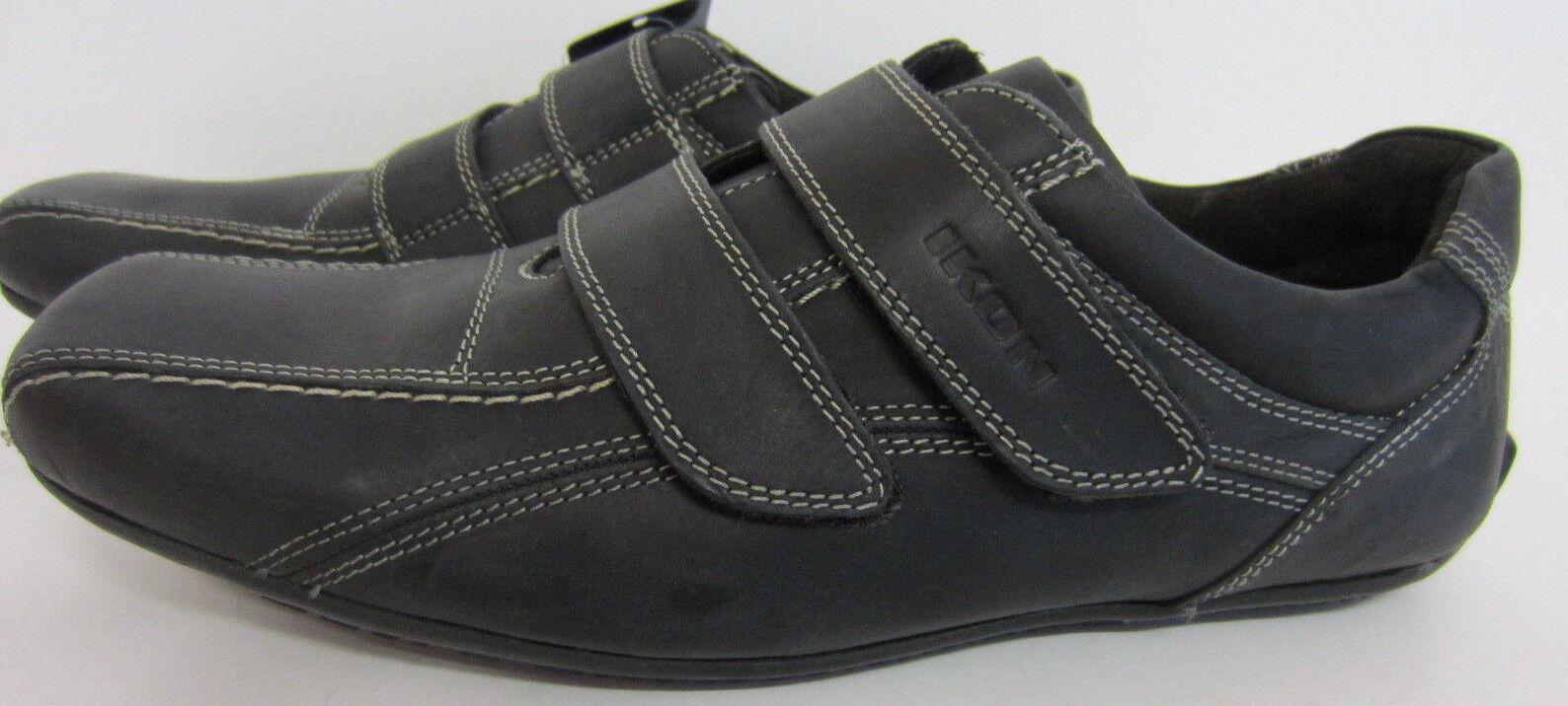 IKON Armstrong ciré cuir vachette uk6x10 noir intelligent Baskets ik211 uk6x10 vachette eu40x44 839538