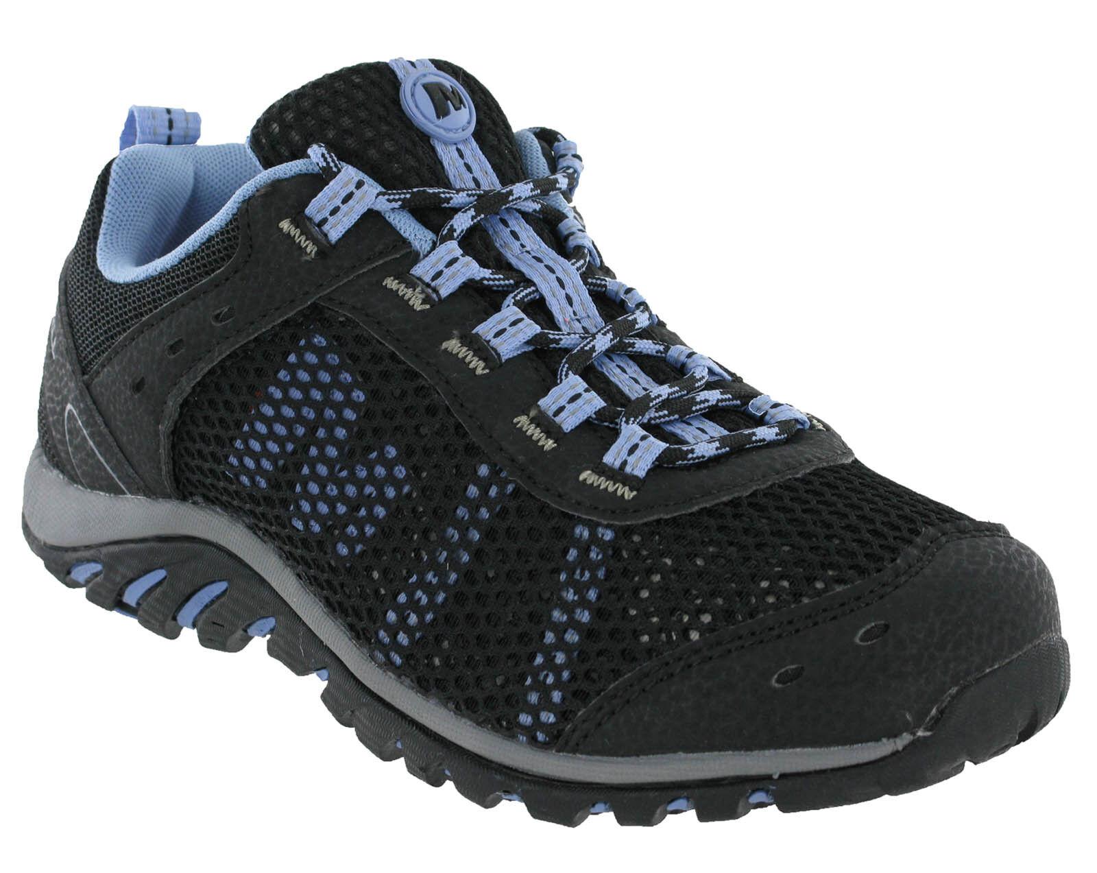 Zapatos promocionales para hombres y mujeres Merrell TARIM Malla Running Negro Con Cordones Lavanda SENDERISMO