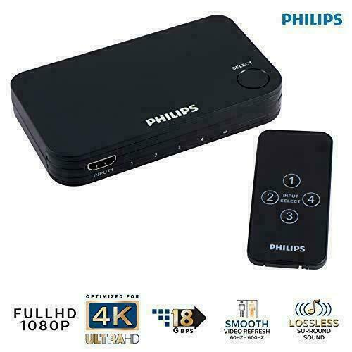 Philips 4 Device HDMI Switch Wireless Remote Use With 4k Smart TV