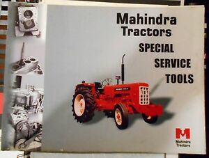Details about Mahindra Tractor Special Service Tools Manual